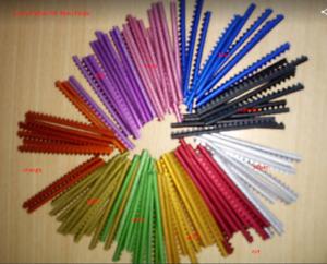 Aluminium Vogelringe, Aluminum Rings, Aluminium, 2,5/0 1/32in, Different Color