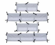 NoJo Secure-Me Crib Liner Roar Pattern Gray & White Chevron Stripes