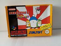 Hebereke's Popoon - SNES Super Nintendo Game CIB PAL UKV + Boxed Protector