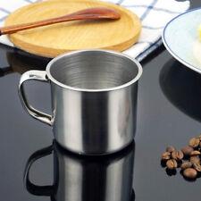 Tea Tumbler Drinking Metal Camping Coffee Mug Portable Cup Stainless Steel