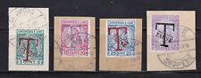 Albania stamps #J2 - J5, used on paper, nice cancellations, 1914, Scv $27.50