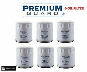 LOT OF 6 OIL FILTER PG2222 PREMIUM GUARD REPLACE PH10060, X2222