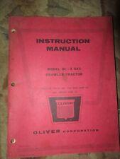 Oliver 0C3 instruction Vintage Tractor Manual book
