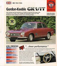 1964/1965/1966 GORDON-KEEBLE GK1 / IT IMP Brochure