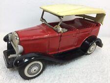 Vintage Bandai Red Model A/T Friction CAR  Vintage Tin Japan