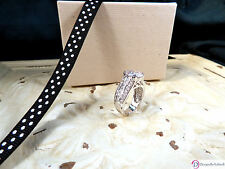 Sterling Silver CZ Vintage-Style Ladies Ring with Filligree Detail~6 CTW~Size 7