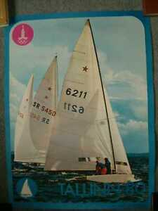 """Moscow Olympic Games 1980 Sailing Tallinn Poster """"Star"""""""