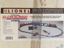 LIONEL TRAINS NEW, RARE UNCATALOGED DODGE MOTORSPORTS FREIGHT TRAIN SET 027