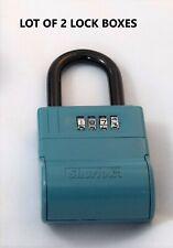 Lot Of Two Shurlok Sl600 Real Estate Lock Boxes Key Safe Realtor Lockbox Used