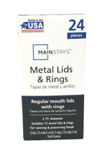 Mainstays MS14-520-031-02 Regular Mouth Lids with Rings - Box of 24