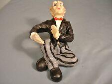 Novelty Wine Bottle Holder Sitting Man Resin Hand Painted USED