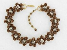 Beautiful Miriam Haskell Bronze Floral Necklace (NK1882)