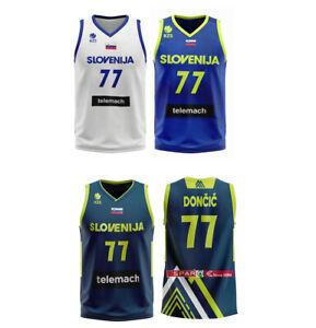 2017 Europe Luka Doncic #77 Goran Dragic Slovenija Basketball Jersey Custom Name