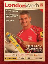 London galés V Exeter Chiefs-RUGBY Programa jugado 7th 2014 de septiembre