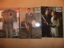 ROGER MOORE THE SAINT 3 POSTCARDS ITC LESLIE CHARTERIS VOLVO P1800