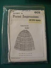 PERIOD IMPRESSIONS PATTERN 602 FLOUNCED SKIRT CIVIL WAR  VICTORIAN WOMENS DRESS