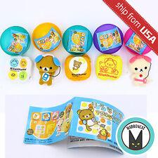 Lot 5pcs Rilakkuma mini Plush Japan Gashapon Kawaii Cute Relax Bear Mobile toy