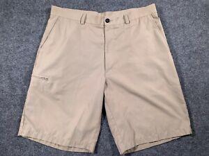 Grand Slam Mens Golf Shorts Performance Polyester Cargo Pocket Size 36 Khaki