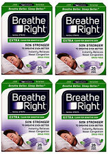 "Breathe Right EXTRA  ""50% stärker""  104 Nasenpflaster transparent - besser atmen"