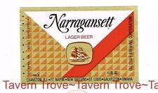 1970s RHODE ISLAND Cranston NARRAGANSETT BEER stubbie 12oz Label Tavern Trove