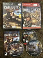 PlayStation 2 PS2 BUNDLE/LOT CALL OF DUTY 3 SPECIAL EDITION + COD 2 Big Red One