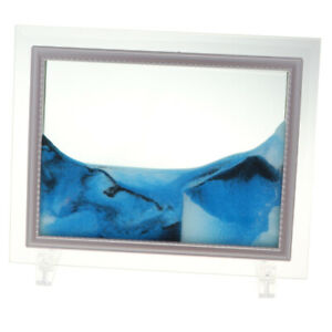 9'' Moving Liquid Sand Painting Art Scenery Picture Photo Frame Home Table Décor