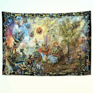 dining room wall decor fantasy forest tapestry cloth poster