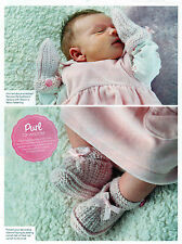 ~ Baby Knitting Pattern For Sweet Little Bootees & Mittens ~