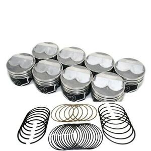 Speed Pro Chevy 350/5.7 Hypereutectic Coated Dome Piston+MOLY Rings 10.7:1 +30