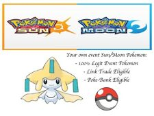 Pokemon Sun and Moon ORAS 20th Anniversary Event Pokemon Jirachi w/ PP Max