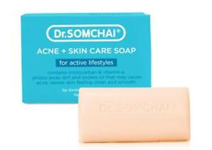Dr. SOMCHAI Acne + Skin Care Soap Actice Lifestyles Vitamin E Clean Smooth 80g