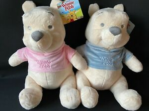 """VERY LARGE WINNIE THE POOH SOFT TOY/TEDDY NEW BABY/SHOWER, PINK / BLUE 16"""" 40CM"""
