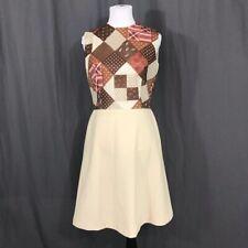 New listing Vintage 1970s Sherbert Originals Mod Faux Patchwork A Line Dress M L