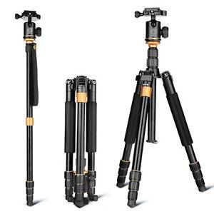 Q999S Aluminum Tripod Monopod+BallHead Pocket Travel for Canon Nikon DSLR Camera