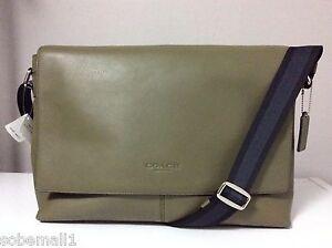 Coach Sullivan Smooth Leather Surplus Green Crossbody Messenger Bag F71726