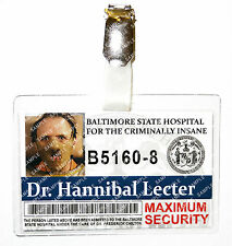 Silence of The Lambs Hannibal Lector ID Badge Cosplay Prop Costume Comic Con