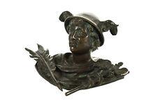 19th century Mercury Figure Bronze Table top Pen Holder