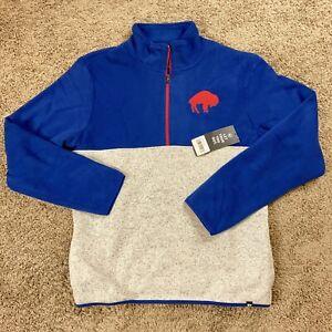 Buffalo Bills Mens Large Fleece Half Zip Sweater Pullover '47 New