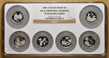 2009 S Silver DC & Territorial Quarters Proof Set NGC PF 69 Ultra Cameo
