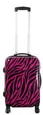 Leichter Trolley Koffer mit 4 Rollen Motiv Zebra Fell Pink Gr. M