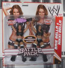 The Bella Twins Nikki & Brie Battle Pack Action Figure w/ Total Divas Belt NEW