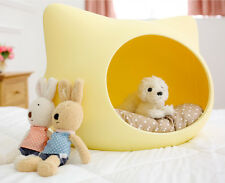 Cute Cat Shaped Pet House Puppy Doggie Small Animal Indoor Bed Cushion HDPEEb138
