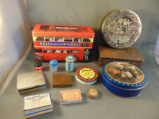 Collector's Tins Walkers Biscuts cookies antique Alka Seltzer bottle tape cigare