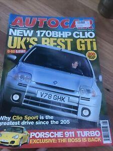 Autocar Car magazine DEC 1999 CLIO FIAT 75 PUMA C70 MR2 XJR SVO POLO ATOM A140