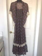 New listing Vintage 70s Prairie Gunne Sax Style Boho Victorian Candi Jones Calif. Maxi Dress