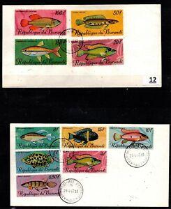 / BURUNDI 1981 - 2 FDC - FISH