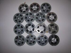 Vintage Lot of 15 8mm 25 Foot Home Movie Reels 1958-1963 Christmas Kids Trips