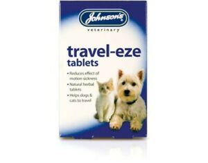 JOHNSON'S TRAVEL-EZE TRAVEL, MOTION SICKNESS RELIEF FOR DOGS & CATS NATURAL HERB
