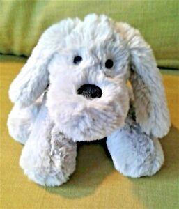 """Grey Fluffy Puppy Dog 8"""" Next Soft Toy Plush Beanie Comforter Machine Wash  EX"""