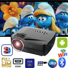 7000Lumens 1080P HD LED Projector Bluetooth+WiFi+Android 1G+8G 3D Home Theater